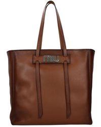 Miu Miu Shoulder Bags Women Brown