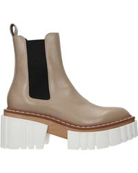 Stella McCartney Ankle Boots Eco Leather - Natural