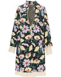 Marni Floral Print Coat - Multicolour