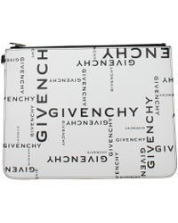 Givenchy White Clutches