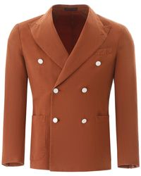 The Gigi Double-breasted Jacket - Brown