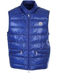 Moncler Gui Down-filled Gilet - Blue