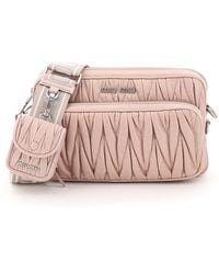 Miu Miu Quilted Camera Bag With Pouch - Multicolor