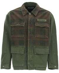 Palm Angels - Military Buffalo Jacket With Logo Print - Lyst
