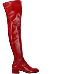 Prada Boots Patent Leather - Pink