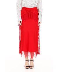 Self-Portrait - Lace-trimmed Skirt - Lyst
