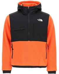 The North Face Denali 2 Popover Fleece Hoodie - Orange