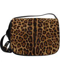 Saint Laurent Crossbody Bag Women Brown - Black
