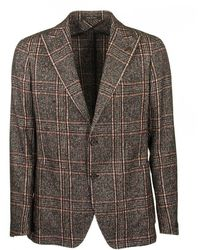 Tagliatore Classic Plaid Blazer - Brown