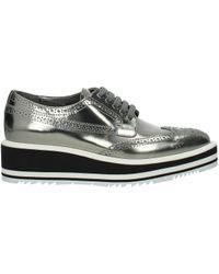Prada Silver Lace Up And Monkstrap - Multicolour