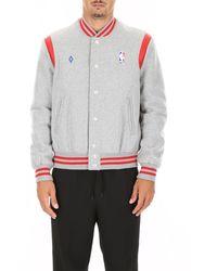 Marcelo Burlon X Nba Varsity Jacket - Grey