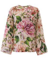 Dolce & Gabbana - Floral Printed Blouse - Lyst