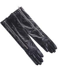 """Karl Lagerfeld """"k / Rocky"""" Long Gloves - Black"""