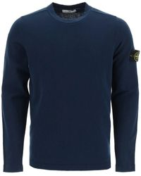 Stone Island - Cotton Crew Neck Sweater - Lyst