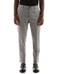 Dolce & Gabbana Tartan Trousers - Gray