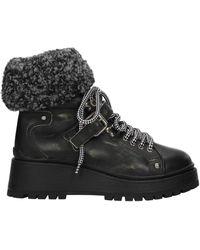 Miu Miu Ankle Boots Leather - Black