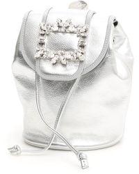 Roger Vivier Rv Broche Mini Backpack - Metallic