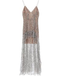 Self-Portrait Long Sequined Tulle Dress - Multicolor