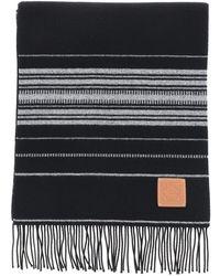 Loewe Multicolor Striped Scarf - Black