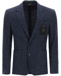 Dolce & Gabbana Dolce & Gabbana Tailored Blazer In Tartan Wool - Blue