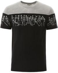 Alexander McQueen Skeleton Print T-shirt - Black