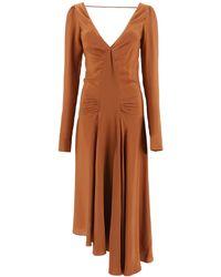 N°21 N.21 Dress In Crepe - Brown