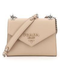 Prada Leather Monochrome Bag - Natural