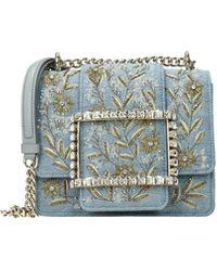 Roger Vivier Crossbody Bag Fabric Denim - Blue