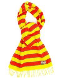 KENZO Memento 3 Striped Scarf - Yellow
