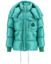 Moncler Basic Lamentin Down Jacket With Hood - Green