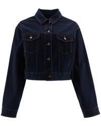 Valentino V Gold Denim Jacket - Blue