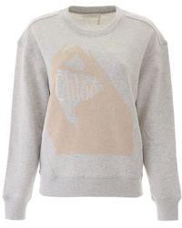 Chloé Chloe' Logo Sweatshirt - Grey