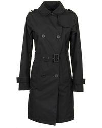 Herno - Laminar Black Raincoat - Lyst