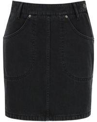 KENZO - Denim Mini Skirt - Lyst