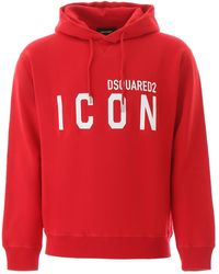 DSquared² Icon Hoodie - Red