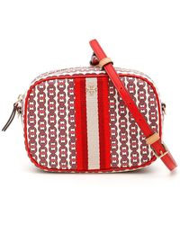 Tory Burch Gemini Link Logo Mini Crossbody Bag - Red