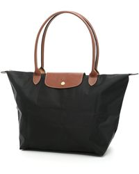 Longchamp Large Le Pliage Shopping Bag - Black