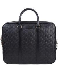 Gucci Bag In Black Signature Leather