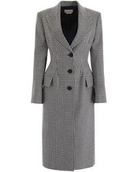 Alexander McQueen Houndstooth Coat - Multicolor