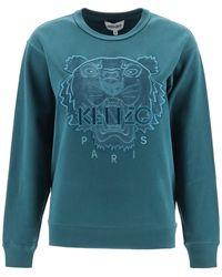KENZO Tiger Embroidered Sweatshirt - Blue