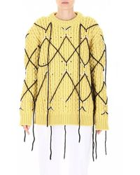 CALVIN KLEIN 205W39NYC Intarsia Knit Jumper - Yellow