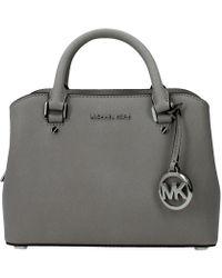 Michael Kors Handbags Savannah Woman Grey - Gray
