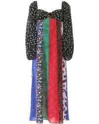 RIXO London Ivy Long Dress - Multicolour