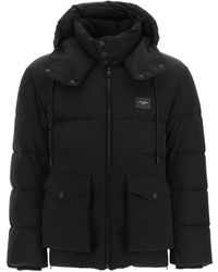 Dolce & Gabbana Dolce & Gabbana Quilted Down Jacket With Hood - Black