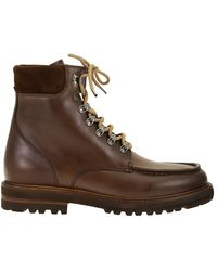 Brunello Cucinelli Ankle Boot In Pull-up Calfskin - Brown
