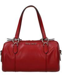 Miu Miu Handbags Women Leather Red Red