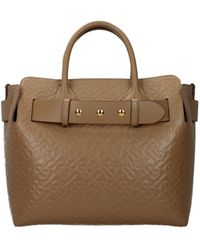 Burberry Handbags Leather Camel - Natural