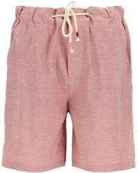 The Silted Company Coffin Portland Shorts S Linen - Pink