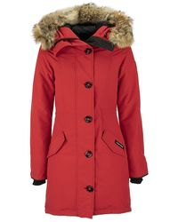 Canada Goose Rossclair Parka Red