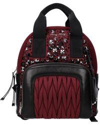 Miu Miu Backpacks And Bumbags Women Red